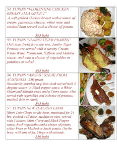 European Main Course at Yupins Pattaya-Jomtien Restaurant Page 4