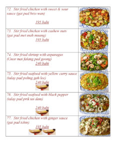 Thai Food at Yupins Restaurant in Jomtien Pattaya Page 2