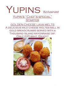 Promotion - Lava Cheese Balls in restaurant near View Talay Jomtien (updated, November 2018)