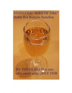 Promotion - Bird of Fire Wine by the glass in European restaurant near View Talay Condominium in Jomtien (updated, November 2018)