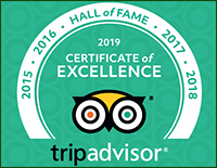 Yupin's Restaurant in Jomtien is in the Hall of Fame of TripAdvisor for achieving the Certificate of Excellence for the years 2015, 2016, 2017, 2018 and 2019.